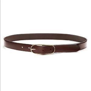BANANA REPUBLIC Genuine Leather Belt Gold Buckle
